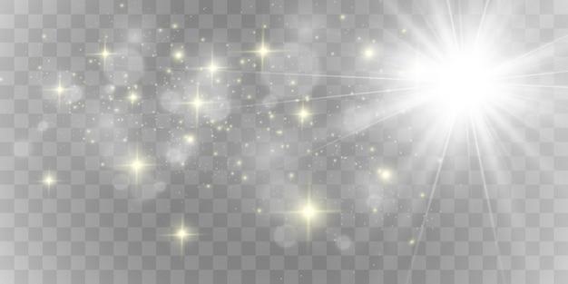 Блестящий золотой блеск. сверкающие блестящие украшения для фона. иллюстрация