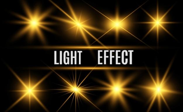 화려한 골드 더스트 벡터가 빛납니다. 배경에 대 한 빛나는 반짝이 장식품.