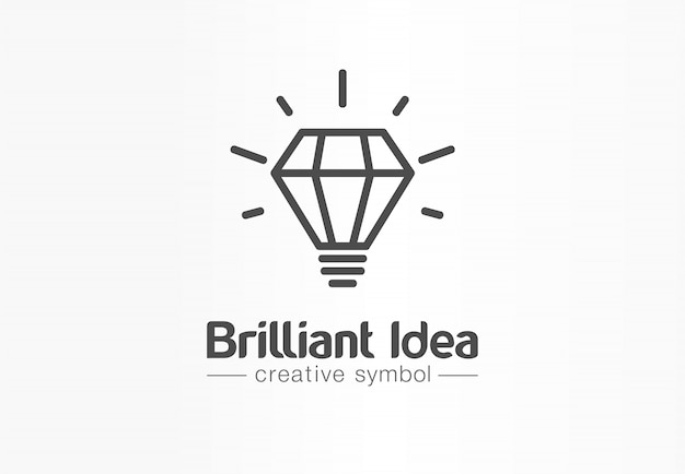 Brilliant idea, light bulb creative symbol concept. tip, innovate, think, inspire abstract business logo idea. bright lamp, education icon.