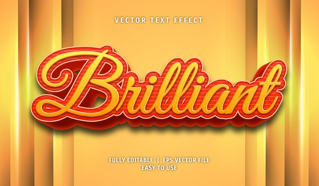 Brilliant text effect, editable text style