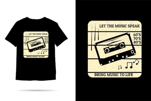 音楽に命を吹き込むシルエットtシャツのデザイン