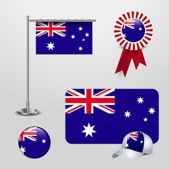 Значок британского флага и значок крышки