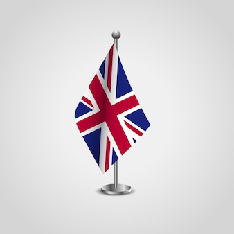 British flag design with flag stand vector