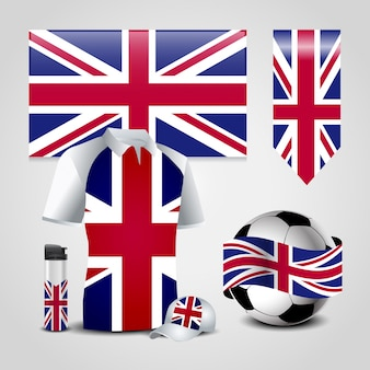 아이콘으로 영국 국기 디자인 벡터 설정