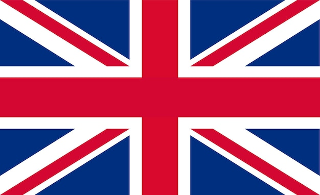Британский флаг - оригинальные цвета и пропорции. векторная иллюстрация eps 10