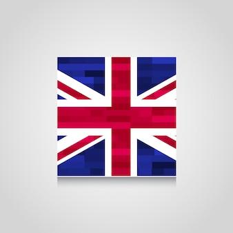 British flag with vintage design vector