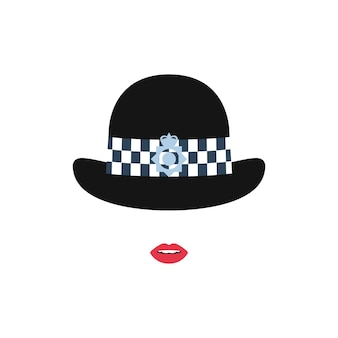 British police girl in a hat