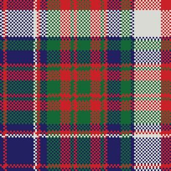 イギリスのタータンチェック格子縞のシームレスパターン