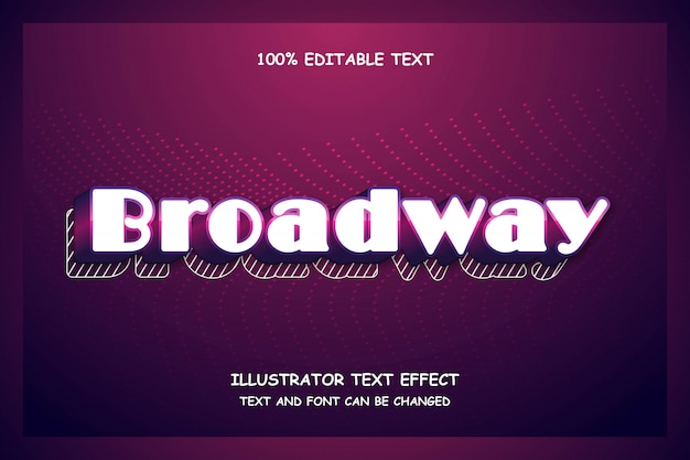 Broadway, editable text effect modern shadow futuristic style