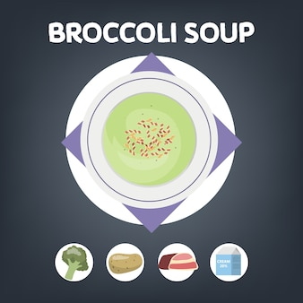 Broccoli soup recipe for cooking at home
