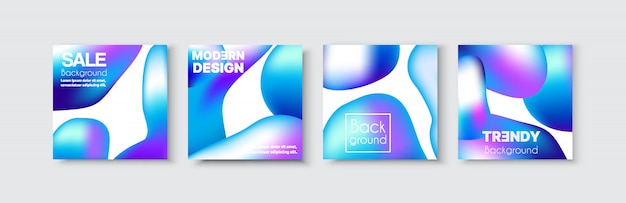 Brochure banner set collection flyer of abstract