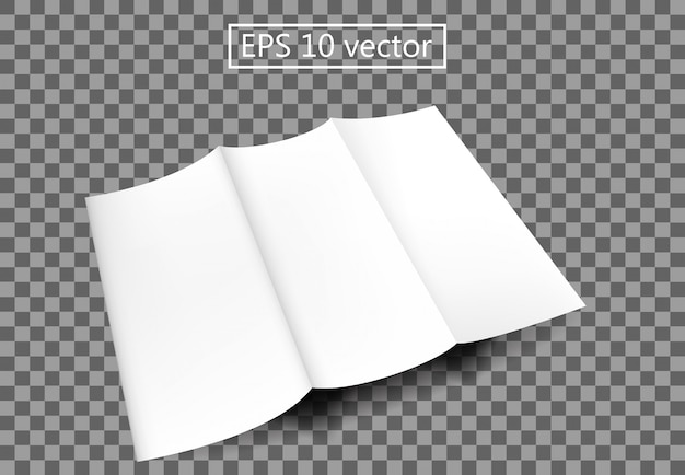 Brochure blank paper