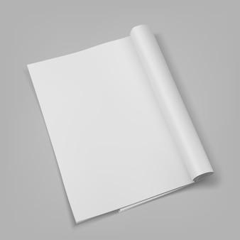 Брошюра пустой белый шаблон презентации.