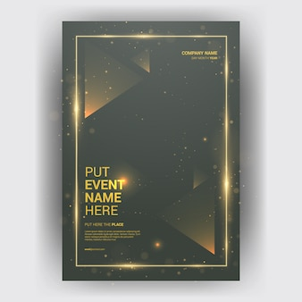 Brochure business magazine with layout geometric concept