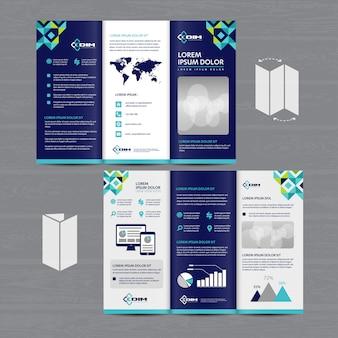 Brochure business tri fold leaflet flyer