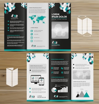 Brochure business tri fold leaflet