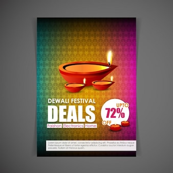 Brochure to celebrate diwali