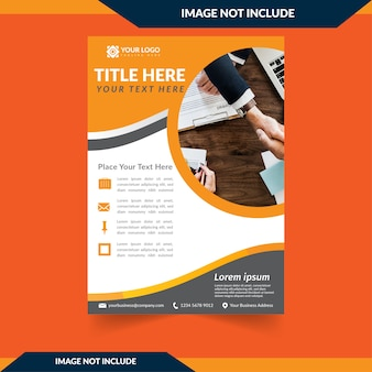 Brochure Company WIth Orange Background
