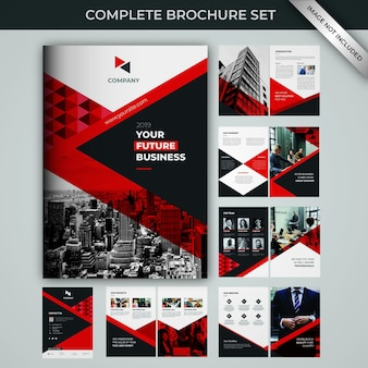 Brochure complete set template collection
