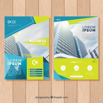 Brochure concept with building