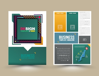 Brochure cover and poster template
