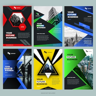 Brochure cover design template collections