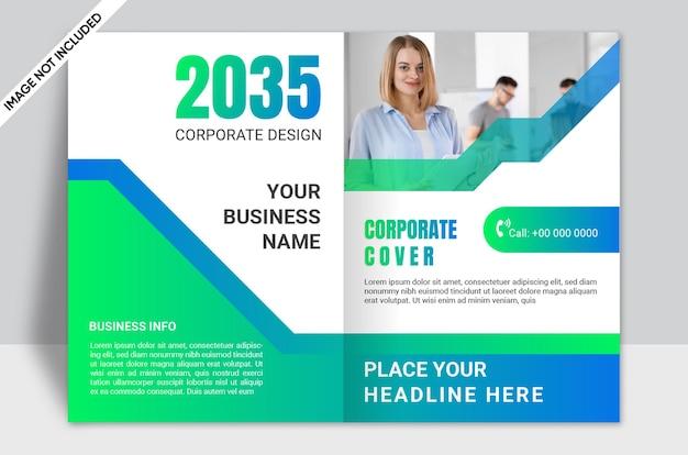 Brochure cover design template company profile