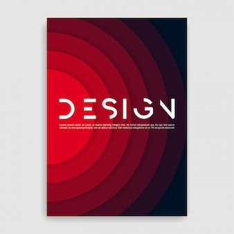 Brochure cover geometric . a size template.