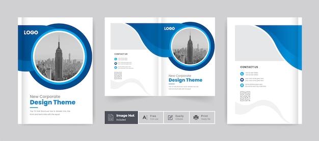 Brochure cover template design layout colorful unique shape company profile cover design