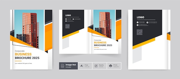 Brochure cover template layout design company profile template cover of book cover design
