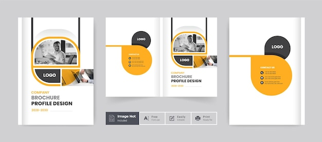 Brochure cover template layout design company profile template cover of book cover template