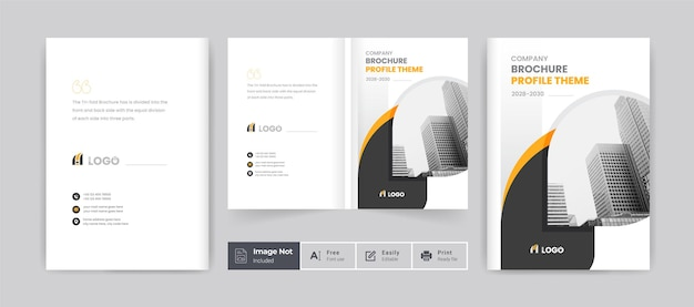 Brochure cover template minimal layout design company profile template cover of book cover design
