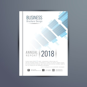 Brochure cover with technological elements