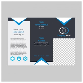パンフレットデザイン、パンフレットテンプレート、創造的な3つ折り、トレンドパンフレット