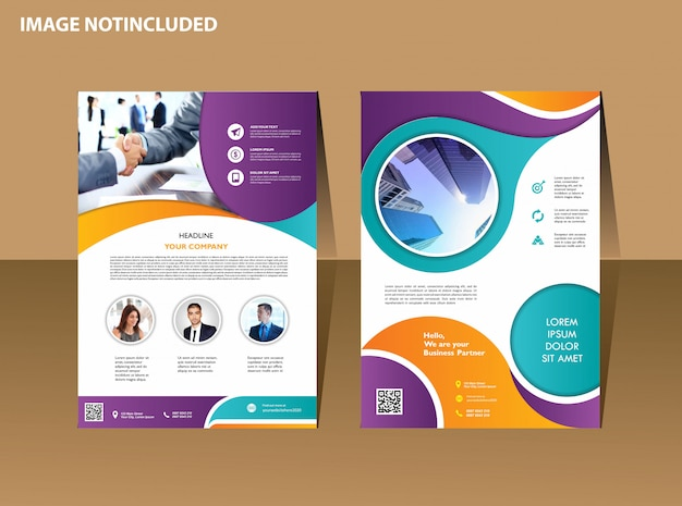 Brochure design cover modern layout annual report poster flyer in a4