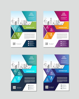 Брошюра дизайн обложки современный макет годовой отчет постер флаер а4