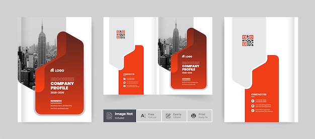 Brochure design cover template company profile annual report cover page for corporate business