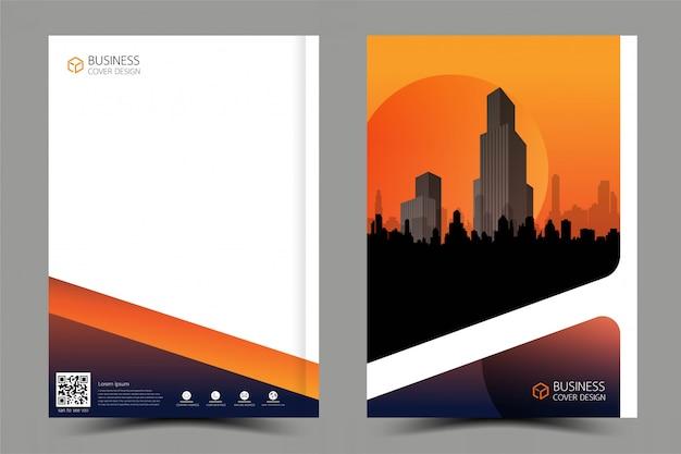 建物からのインスピレーションのパンフレットデザイン。