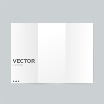 Brochure design template mockup vector