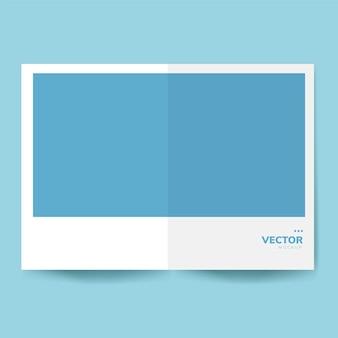 Brochure design template mockup