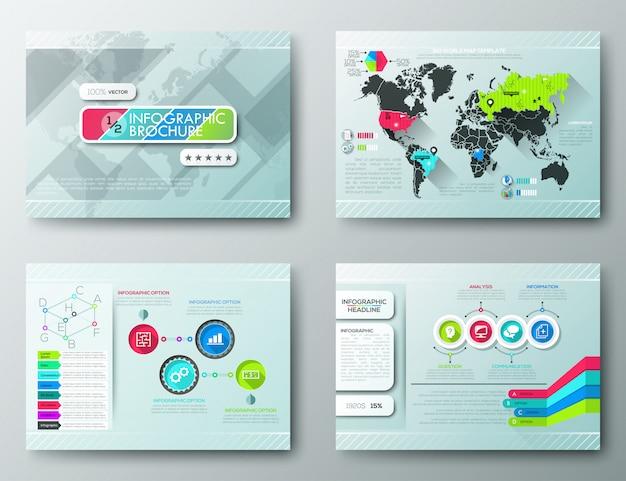 Brochure design templates, infographic elements