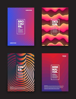 Brochure design templates set