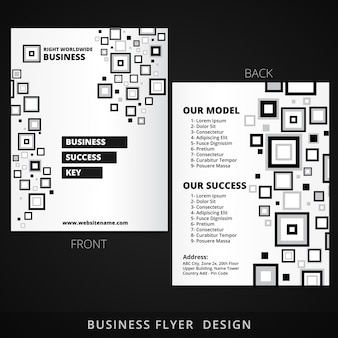 Brochure design with abstract square shapes
