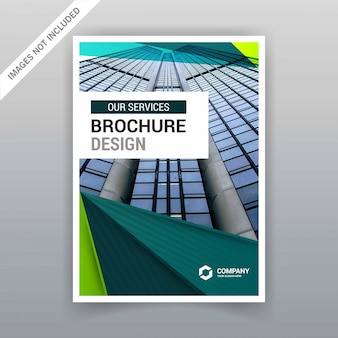 Brochure design with colorful designs vector