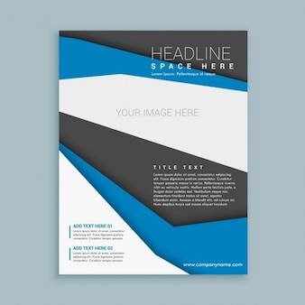 Brochure design with shapes for company