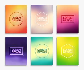 Brochure flyer layouts in A4 size.