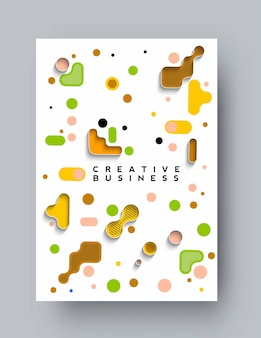 Brochure, flyer, magazine cover page  poster template, illustration.