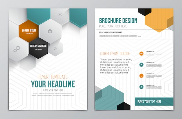 Brochure flyer template