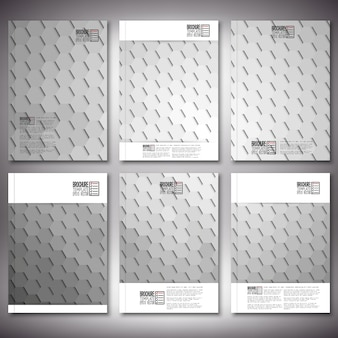 Brochure or flyer templates with abstract hexagon design