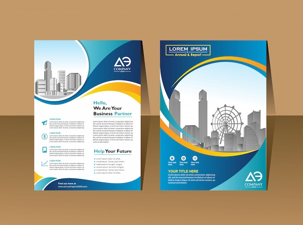 Brochure flyers design template company profile magazine poster annual report book & booklet cover